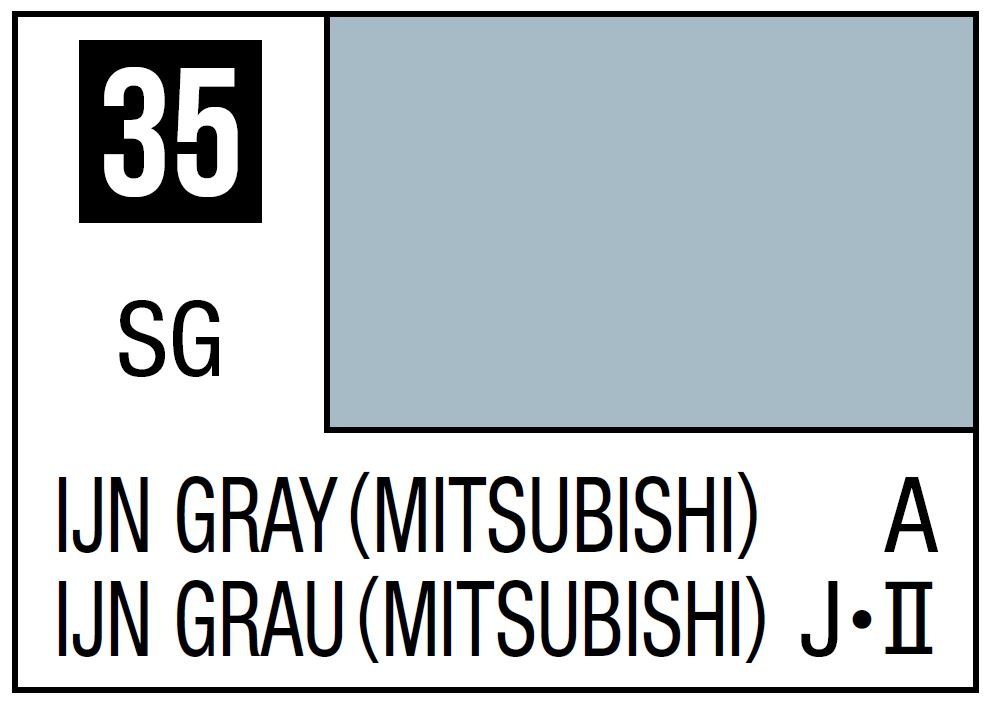 Mr Hobby Mr. Color 35 IJN Gray (Mitsubishi) (Semi-Gloss/Aircraft) - 10ml