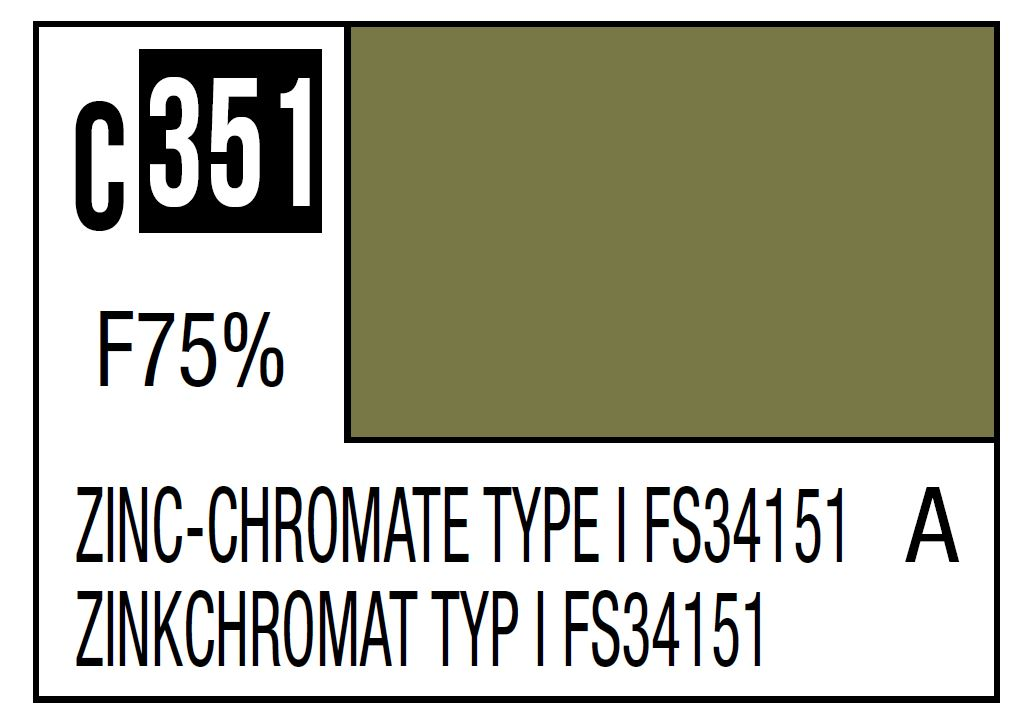 Mr Hobby Mr. Color C351 Zinc-Chromate Type FS34151 (US Army/Airforce Aircraft Interior) - 10ml