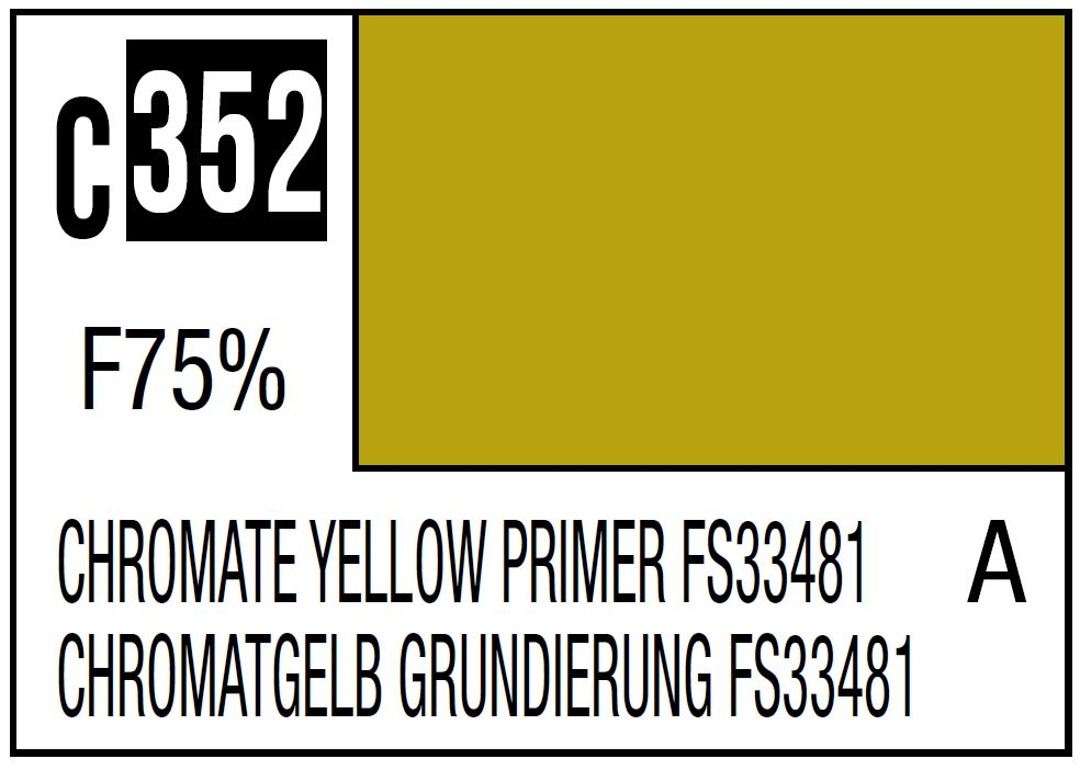 Mr Hobby Mr. Color 352 Chromate Yellow Primer FS33481, US Army/Airforce Aircraft Interior - 10ml