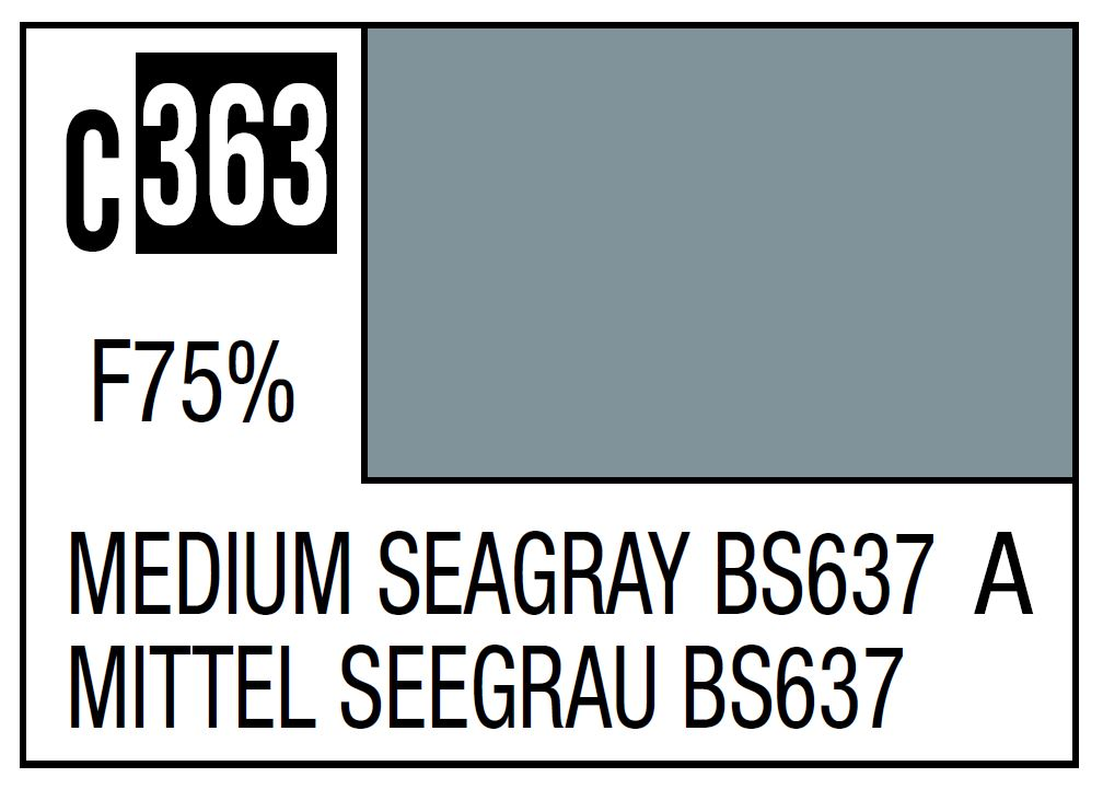 Mr Hobby Mr. Color C363 Medium Seagray BS637 (RAF Standard Color / WWII Mid-Late) - 10ml
