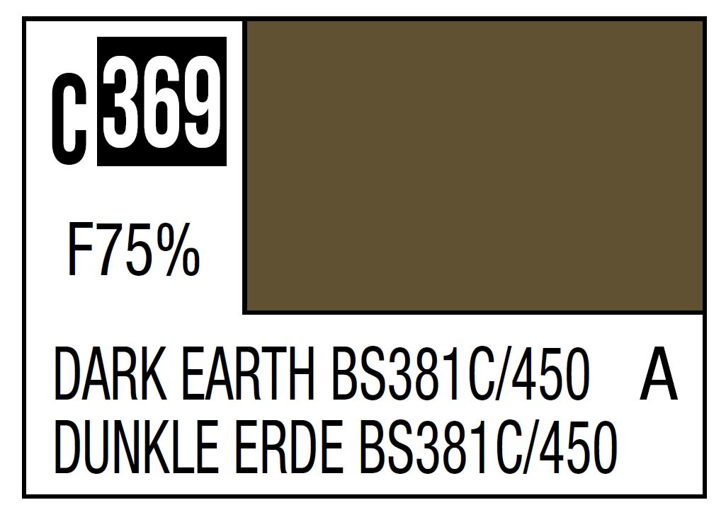 Mr Hobby Mr. Color C369 Dark Earth Bs381C/450 (RAF Standard Color / WWII Early) - 10ml