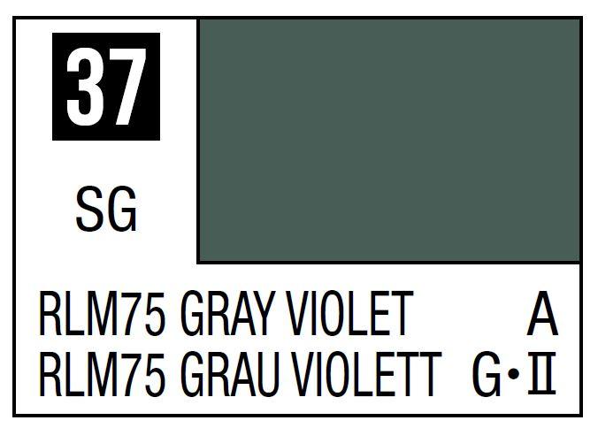 Mr Hobby Mr. Color 37 - RLM75 Gray Violet (Semi-Gloss/Aircraft) - 10ml