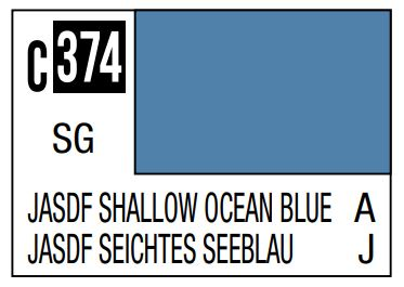 Mr Hobby Mr. Color C374 Jasdf Shallow Ocean Blue (Japan Air Self Difence Force OfFShore Camouflage) - 10ml
