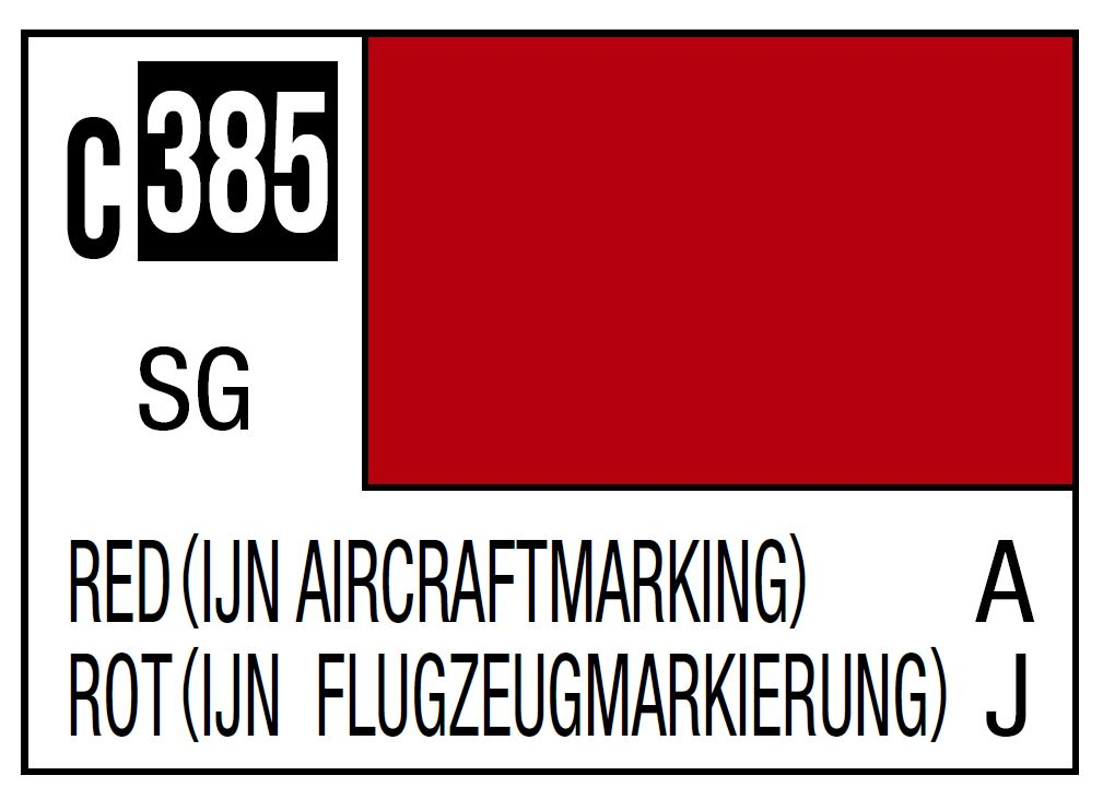 Mr Hobby Mr. Color C385 Red (IJN Aircraft Marking) (Imperial Japanese Navy Referance Mark) - 10ml