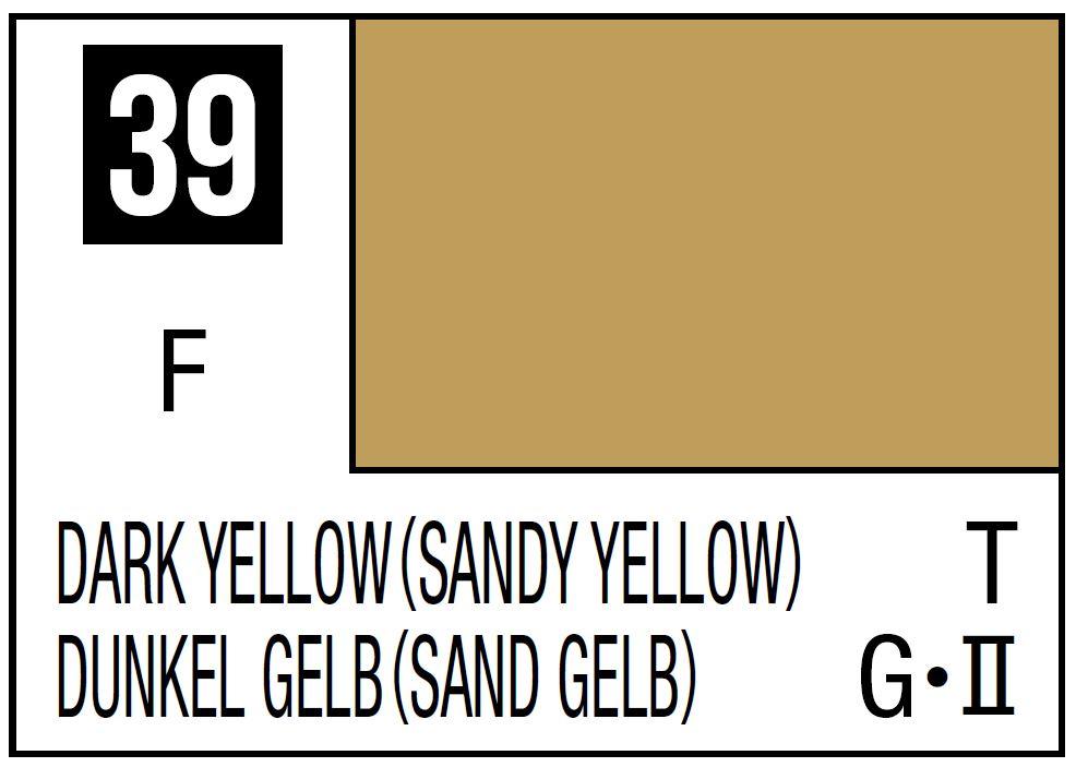 Mr Hobby Mr. Color 39 - Flat Dark Yellow - Sandy Yellow - 10ml