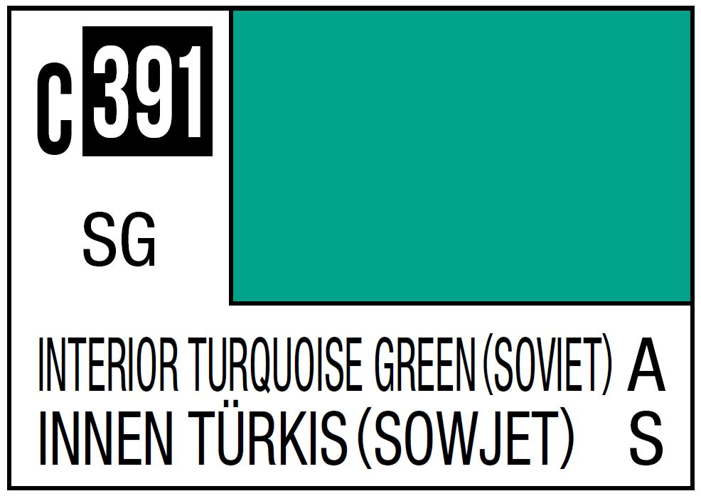 Mr Hobby Mr. Color 391 Interior Turquoise Green, Soviet Aircraft Cockpit - 10ml