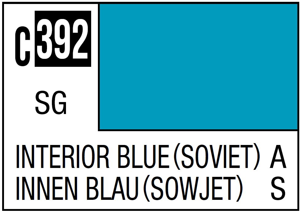 Mr Hobby Mr. Color 392 Interior Blue. Soviet Aircraft Cockpit - 10ml