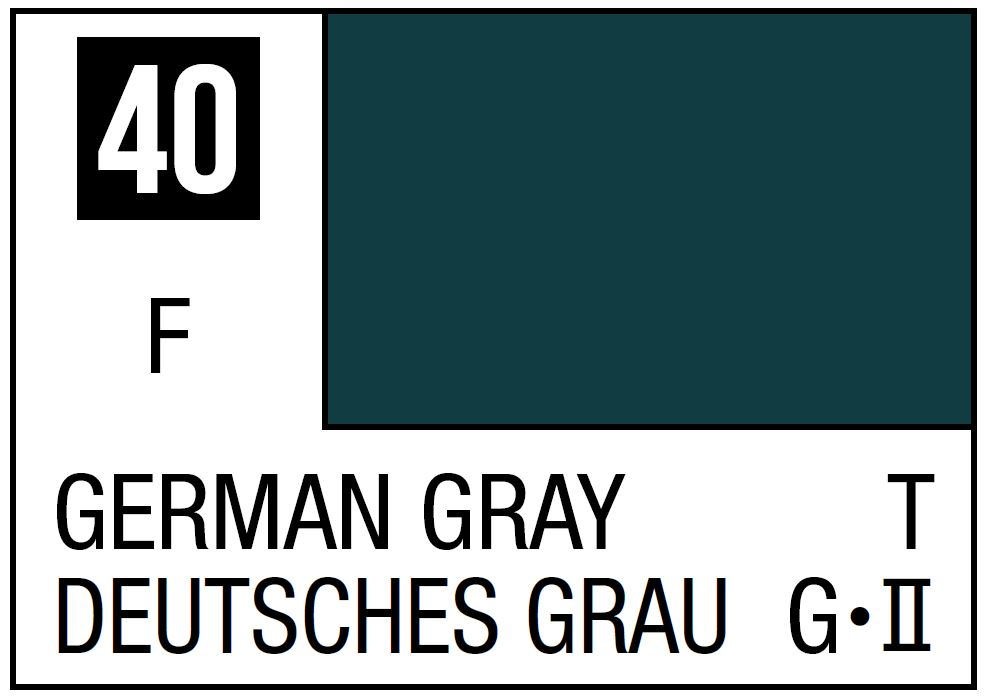 Mr Hobby Mr. Color 40 German Gray (Flat/Tank) - 10ml