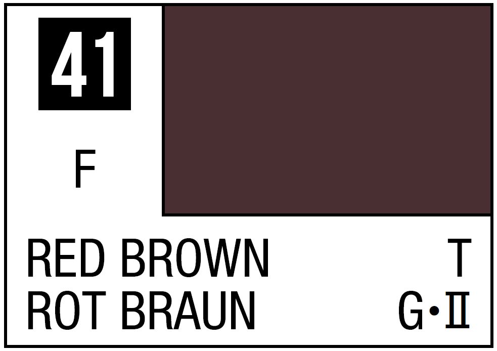 Mr Hobby Mr. Color 41 Red Brown (Flat/Tank) - 10ml