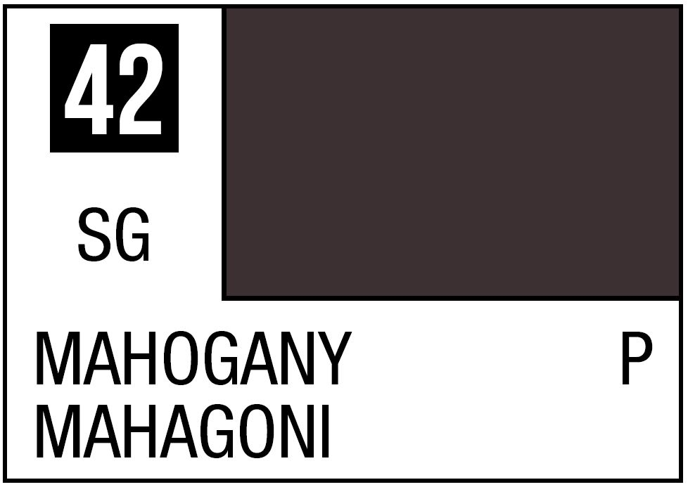 Mr Hobby Mr. Color 42 Mahogany (Semi-Gloss/Primary) - 10ml