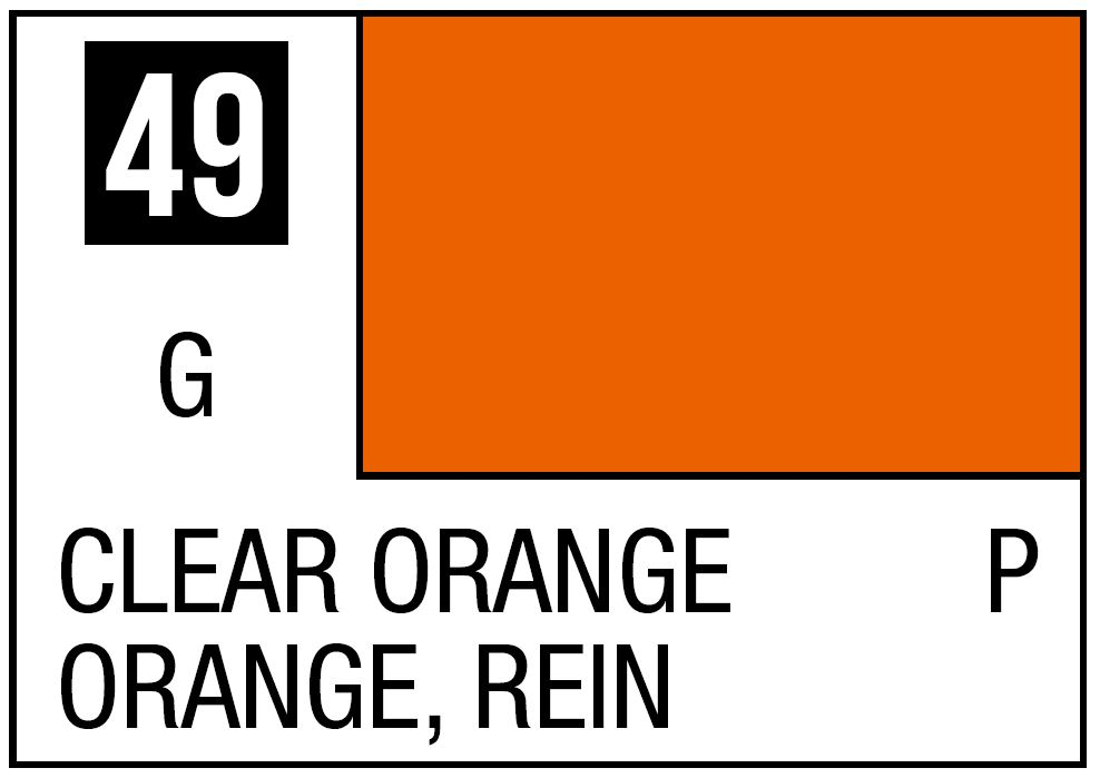 Mr Hobby Mr. Color 49 Clear Orange (Gloss/Primary) - 10ml