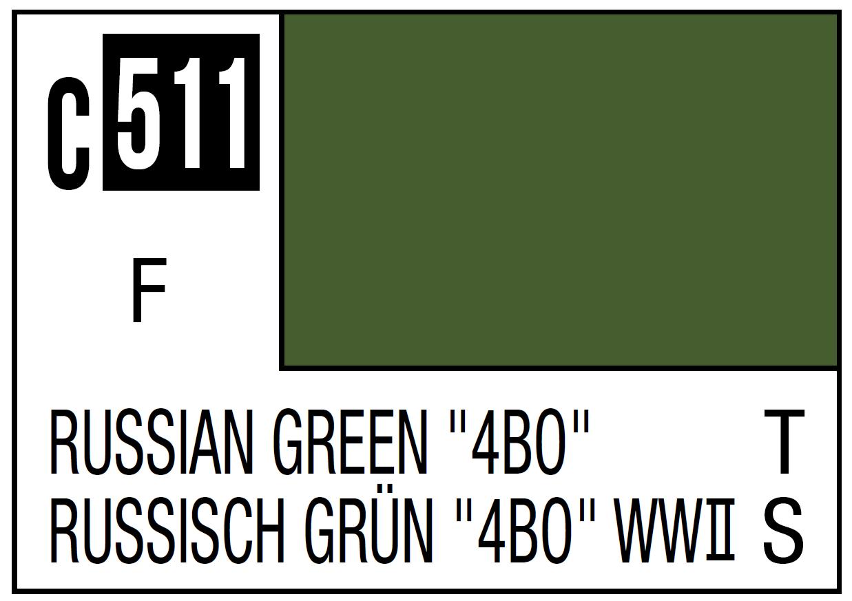 Mr Hobby Mr. Color 511 Russian Green 4BO (Semi-Gloss) - 10ml
