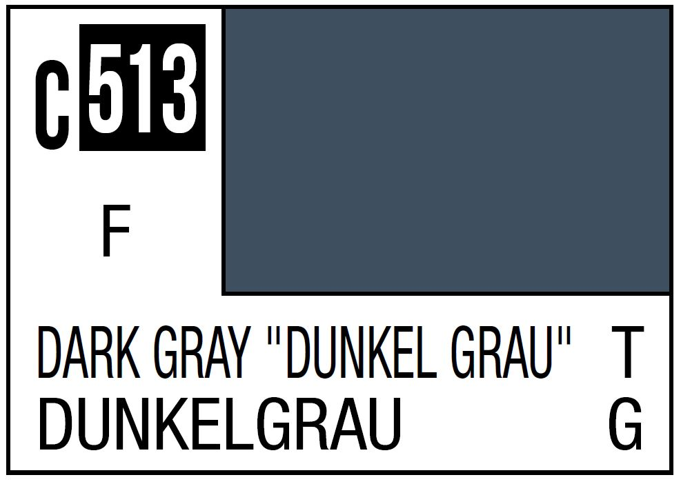 Mr Hobby Mr. Color 513 - Dark Gray Dunkel Grau - 10ml