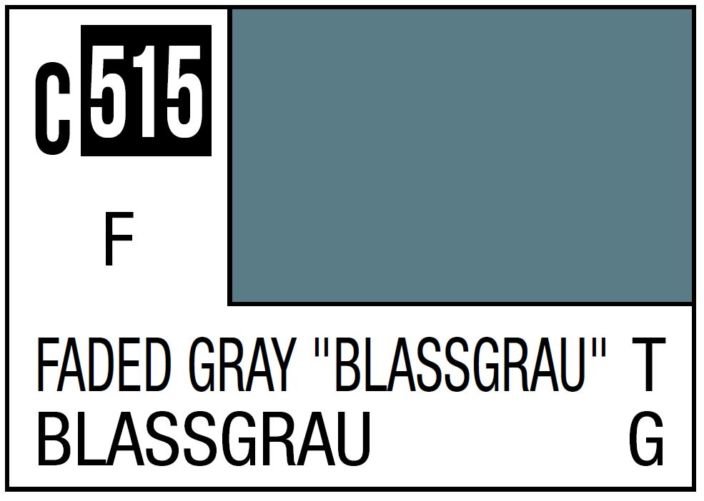 "Mr Hobby Mr. Color 515 Faded Gray ""Blassgrau"", WWII German Tank - 10ml"