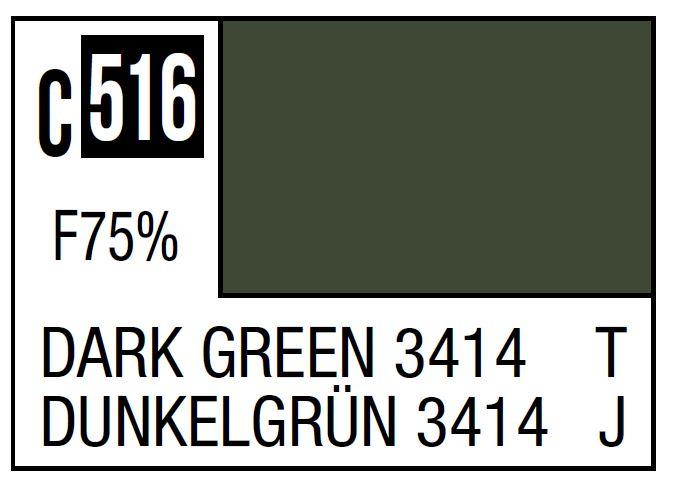 Mr Hobby Mr. Color C516 Dark Green 3414 (Japan Ground Self-Defense Force Vehicle) - 10ml