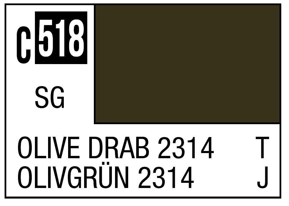 Mr Hobby Mr. Color C518 Olive Drab 2314 Japan ground Self-Defense Force Vehicle - 10ml