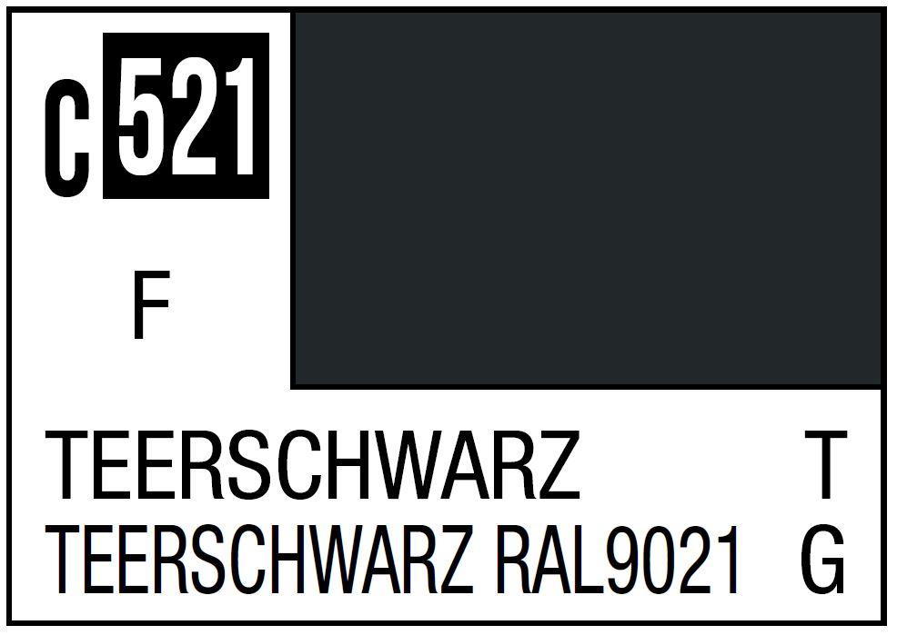 Mr Hobby Mr. Color C521 Teerschwarz NATO/German Tank - 10ml