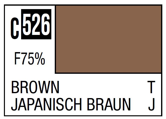 Mr Hobby Mr. Color C526 Brown (Imperial Japanese Army Tank Late Camouflage) - 10ml