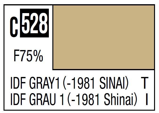Mr Hobby Mr. Color C528 IDF Gray 1 (-1981 Sinai) (IDF Tank -1981) - 10ml