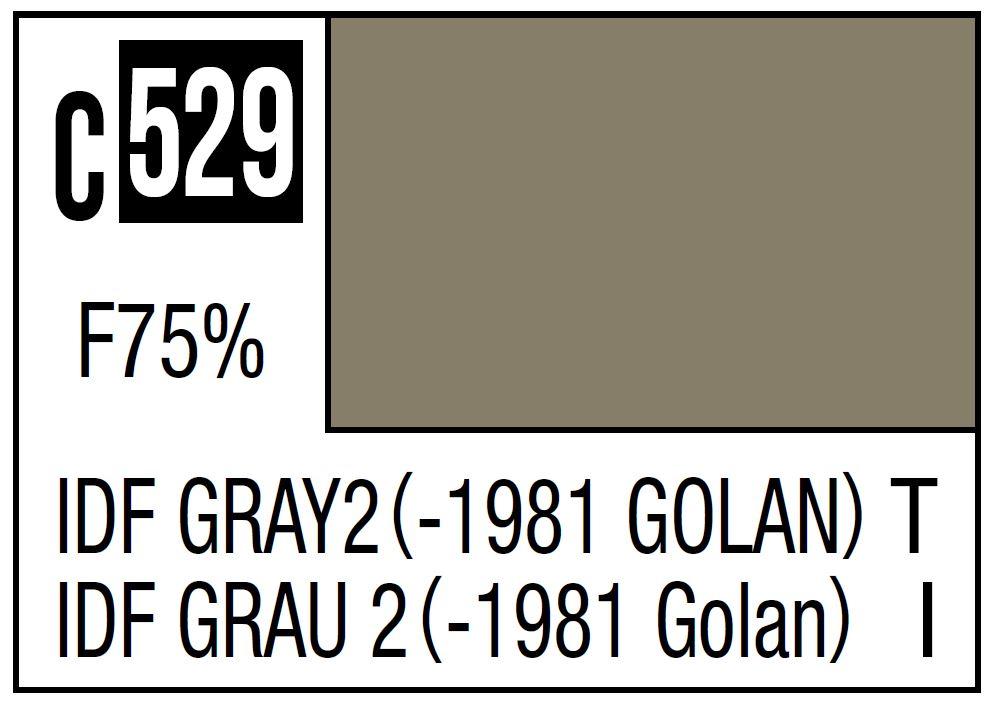 Mr Hobby Mr. Color C529 IDF Gray 2 Golan IDF Tank -1981 - 10ml