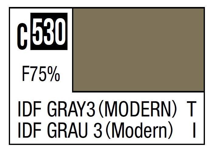 Mr Hobby Mr. Color C530 IDF Gray 3 (Modern) (IDF Tank Current) - 10ml