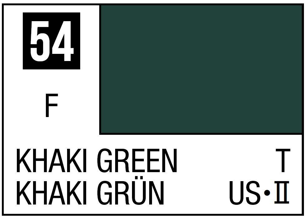 Mr Hobby Mr. Color 54 - Khaki Green (Flat/Tank) - 10ml