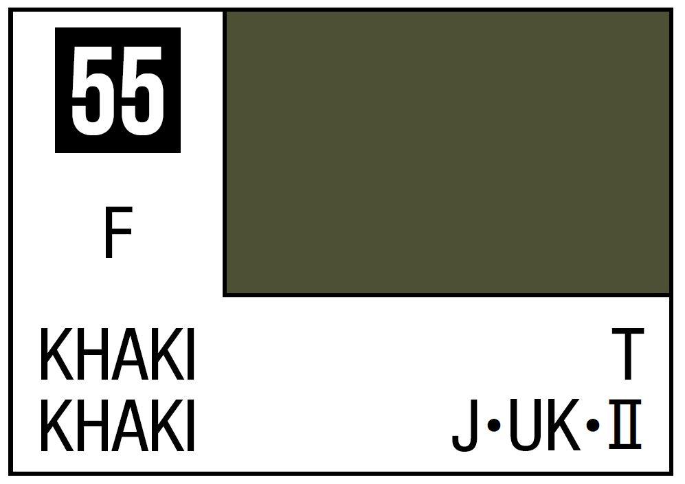 Mr Hobby Mr. Color 55 - Khaki (Flat/Tank) - 10ml