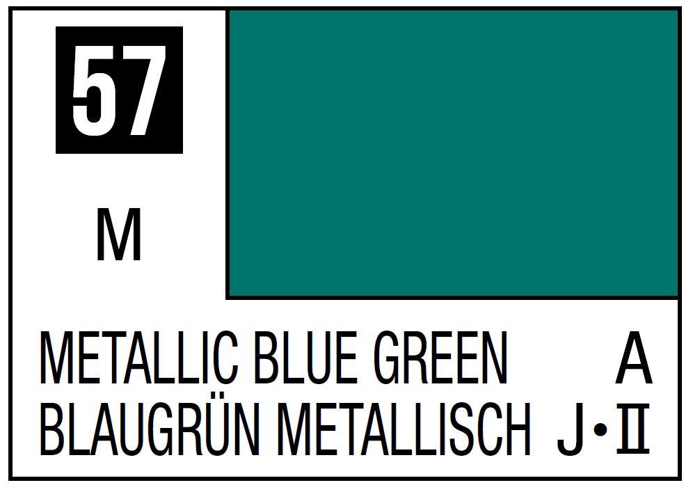 Mr Hobby Mr. Color 57 - Metallic Blue Green (Metallic/Aircraft) - 10ml