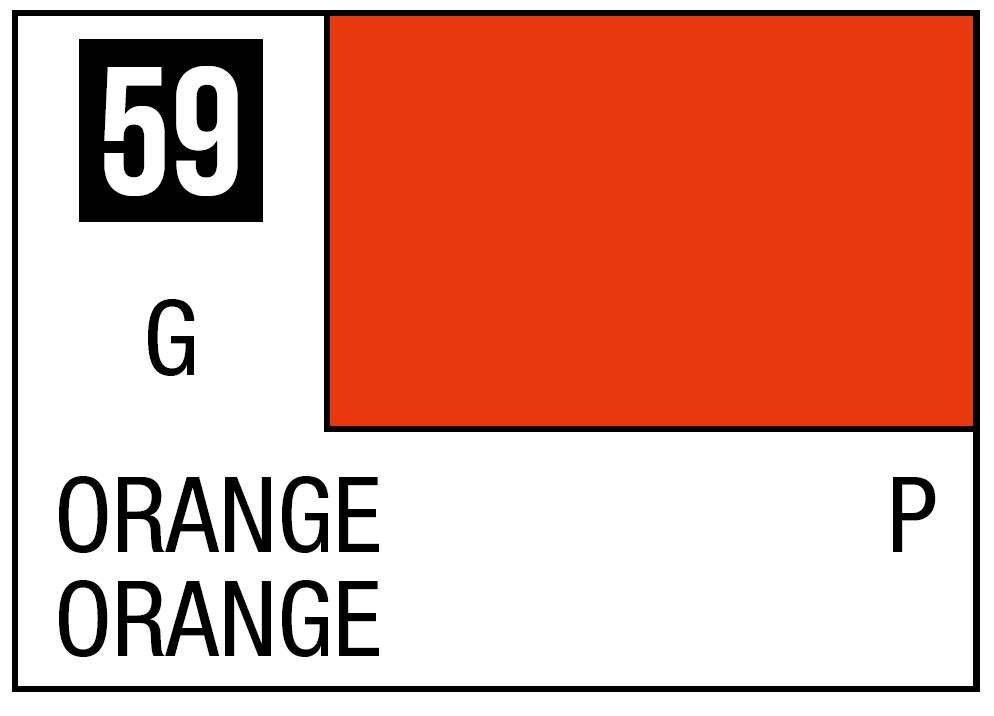 Mr Hobby Mr. Color 59 - Orange (Semi-Gloss/Aircraft) - 10ml