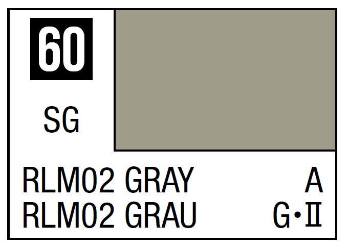 Mr Hobby Mr. Color 60 - RLM02 Gray (Semi-Gloss/Aircraft) - 10ml