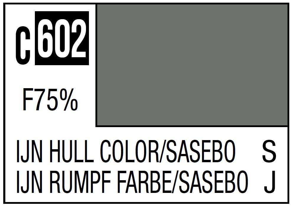 Mr Hobby Mr. Color C602 IJN Hull Color Sasebo Imperial Japanese Warship / Sasebo Arsenal
