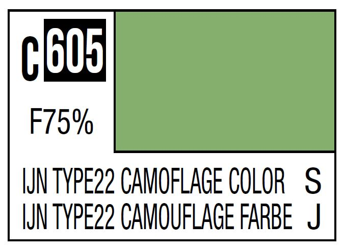 Mr Hobby Mr. Color C605 IJN Type22 Camouflage Color (Imperial Japanese Warship Camouflage) - 10ml