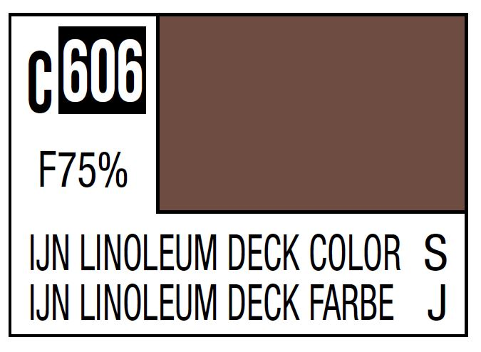 Mr Hobby Mr. Color C606 IJN Linoleum Deck Color (Imperial Japanese Warship Deck) - 10ml