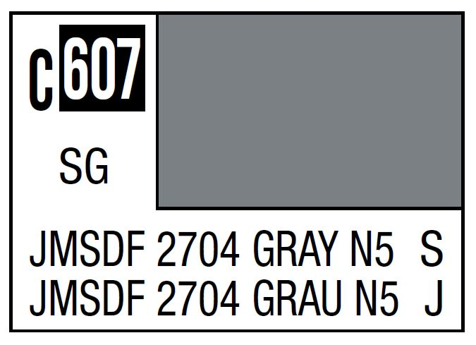 Mr Hobby Mr. Color C607 Jmsdf 2704 Gray N5 (Japan Maritime Self-Defense Force Ships) - 10ml