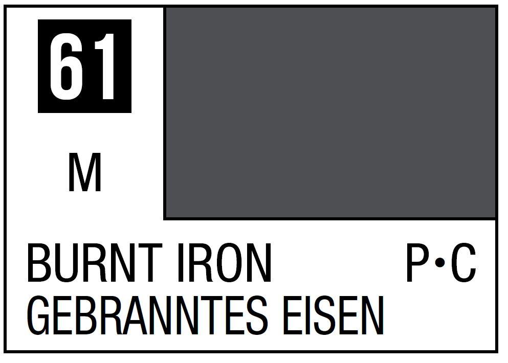 Mr Hobby Mr. Color 61 - Burnt Iron (Metallic/Primary Car) - 10ml