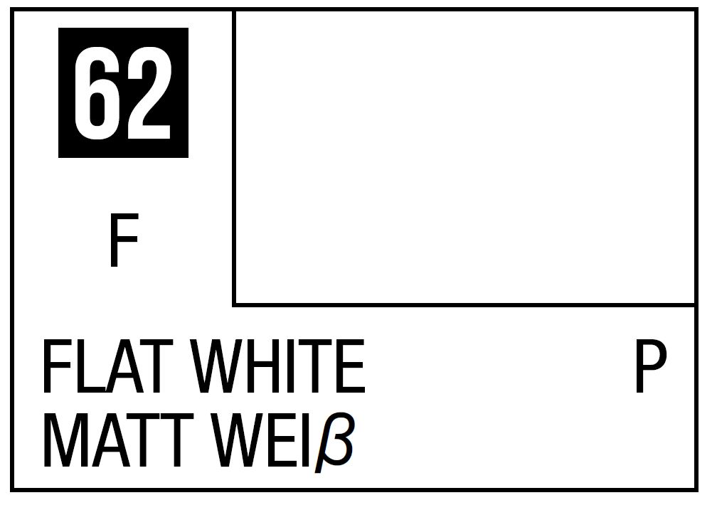 Mr Hobby Mr. Color 62 - Flat White (Flat/Primary) - 10ml