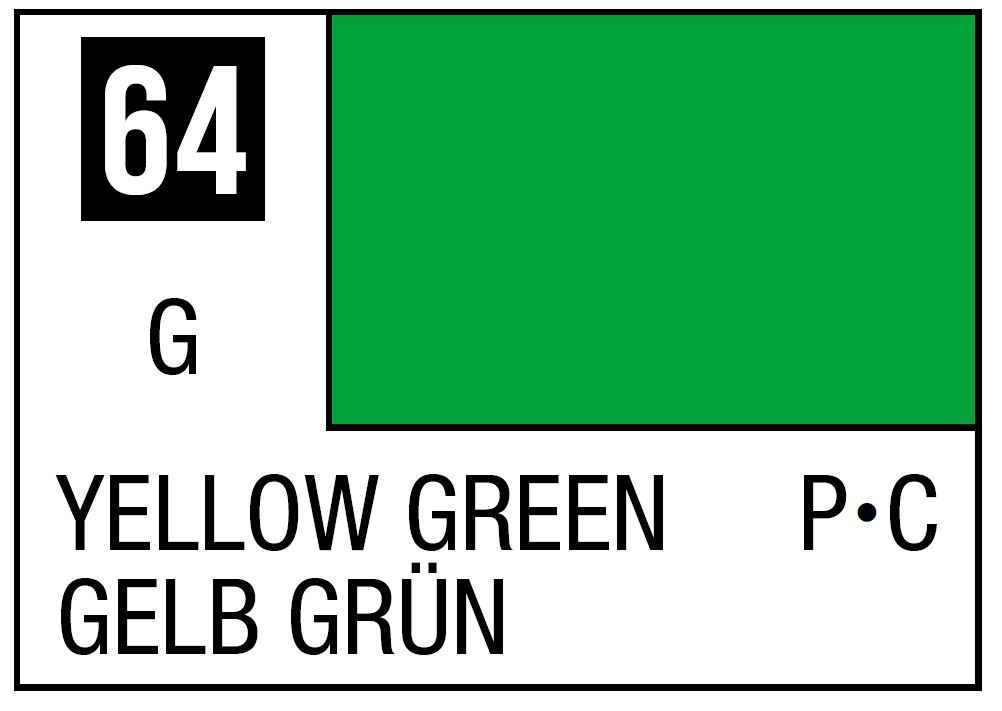 Mr Hobby Mr. Color 64 - Yellow Green (Gloss/Primary Car) - 10ml