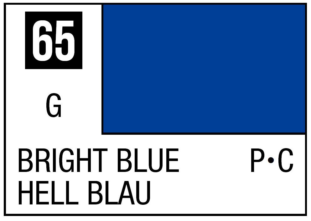 Mr Hobby Mr. Color 65 - Bright Blue (Gloss/Primary Car) - 10ml