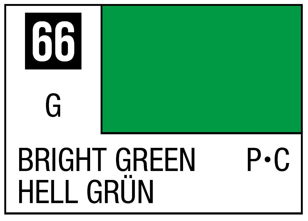 Mr Hobby Mr. Color 66 - Bright Green (Gloss/Primary Car) - 10ml