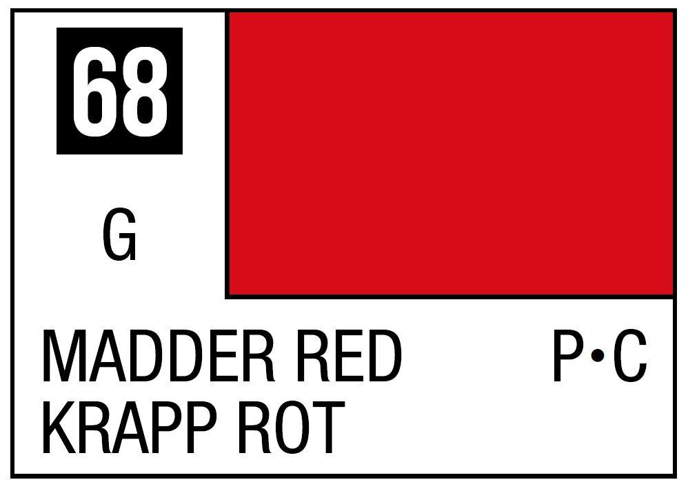 Mr Hobby Mr. Color 68 - Red Madder (Gloss/Primary Car) - 10ml