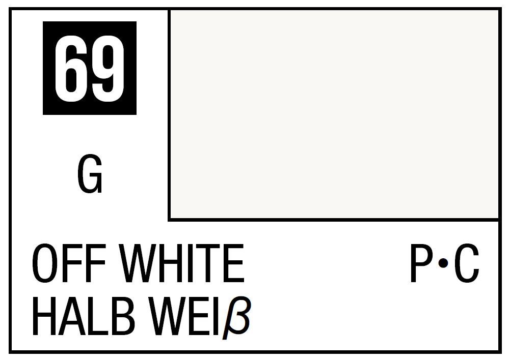 Mr Hobby Mr. Color 69 - Off White (Gloss/Primary Car) - 10ml