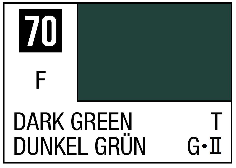 Mr Hobby Mr. Color 70 - Dark Green (Flat/Tank) - 10ml