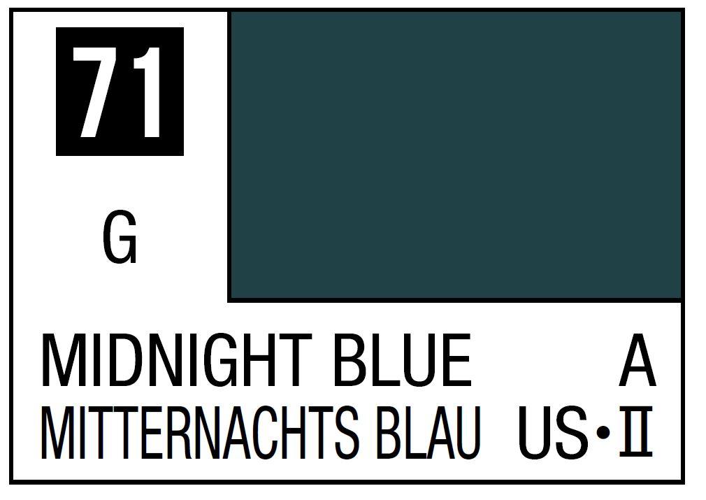 Mr Hobby Mr. Color 71 - Midnight Blue (Semi-Gloss/Primary) - 10ml