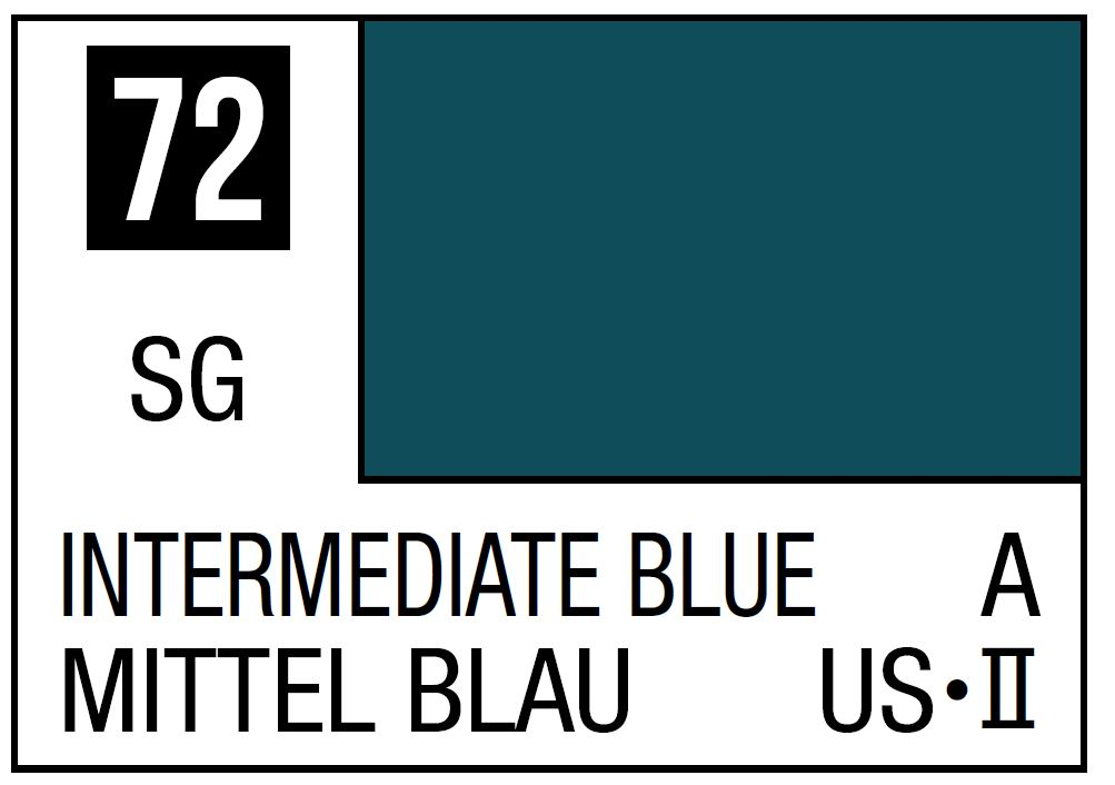 Mr Hobby Mr. Color 72 - Intermediate Blue (Semi-Gloss/Aircraft) - 10ml