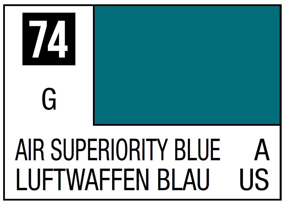 Mr Hobby Mr. Color 74 - Air Superiority Blue (Gloss/Aircraft) - 10ml
