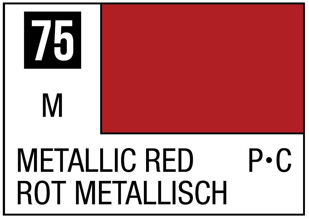 Mr Hobby Mr. Color 75 - Metallic Red (Metallic/Primary Car) - 10ml