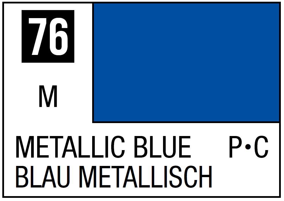 Mr Hobby Mr. Color 76 - Metallic Blue (Metallic/Primary Car) - 10ml