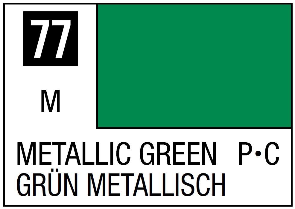 Mr Hobby Mr. Color 77 - Metallic Green (Metallic/Primary Car) - 10ml