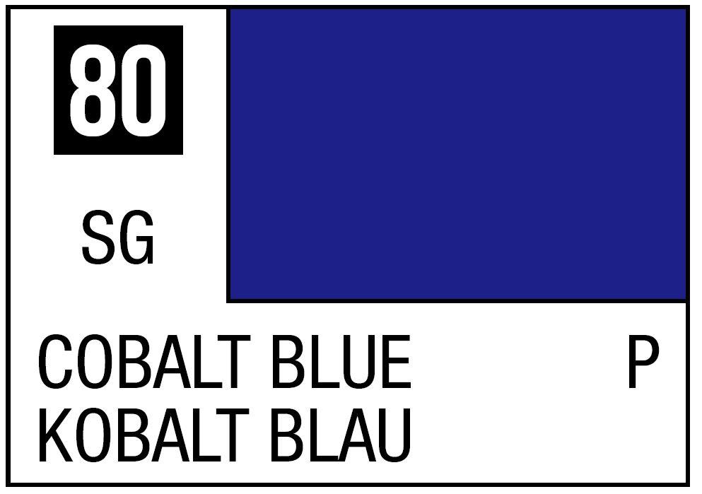 Mr Hobby Mr. Color 80 - Cobalt Blue (Semi-Gloss/Primary) - 10ml