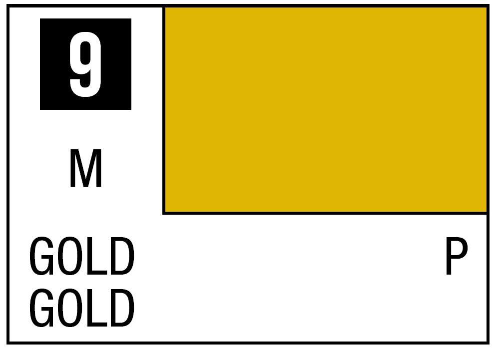 Mr Hobby Mr. Color 9 - Gold (Metallic/Primary) - 10ml
